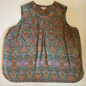 EUC Gorgeous Artisan NY Patterned Blouse Size: 3X